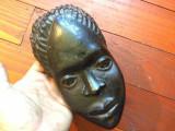 Arta africana / Decor perete - Masca sculptura lemn exotic model deosebit !