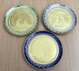 Farfurii - decorative / de colectie - poleite cu aur 24 k - Anotimpuri - 1921