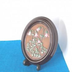 Placheta basorelief ceramica emailata - Linnea - semnata Ingegard, GABRIEL