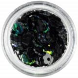 Flori artificiale nail art - negre