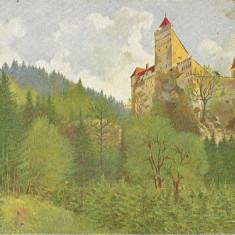 Carte poștală Bran Castelul Bran