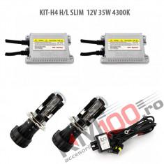 Set xenon H4 Bixenon SLIM 12V 35W 4300K
