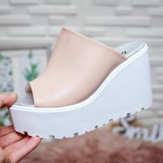 Papuci Macaria roz cu platforma -rl