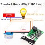 Termostat digital Controler temperatura cu releu 12V 10A