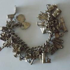 Bratara argint vintage cu charmuri -7093
