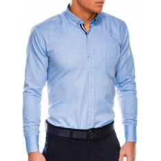Camasa regular fit barbati K490 - albastru-inchis