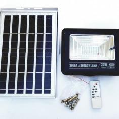 Proiector 20w 42 led SMD panou solar si telecomanda. Senzor lumina.