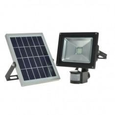 Proiector cu led si panou solar Bass BS-5901, putere 20W, 6400K, 2000lm, IP44, senzor si acumulator Mania Tools