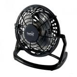 Cumpara ieftin Mini ventilator de birou, alimentare USB, 2.5W, 10 cm, palete ABS, negru, Home