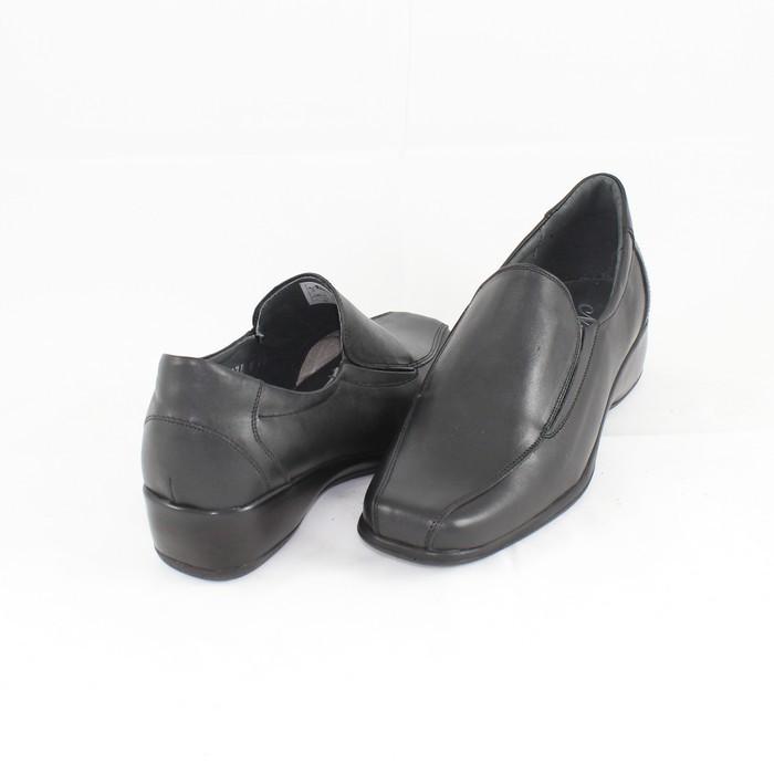 Pantofi casual dama piele naturala - Nicolis negru - 17860-Negru-38