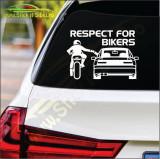 Respect For Bikers Model 4 -Stickere Auto-Cod:ESV-229 -Dim   20 cm. x 13.8 cm.