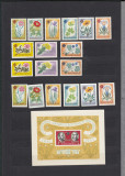 1961 LP 524 LP 524 a LP 525 CENTENARUL GRADINII BOTANICE BUCURESTI   MNH