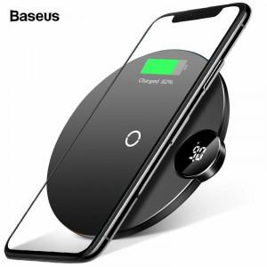 Incarcator universal wireless, Baseus, incarcare rapida Qi, negru