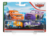 CARS3 SET 2 MASINUTE METALICE SPEEDY COMET SI PARKER BRAKESTON