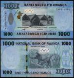 = RWANDA – 1 000 FRANCS - 2019 -  UNC =
