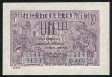 Y836 BANCNOTA DE 1 LEU 1937 NECIRCULATA UNC