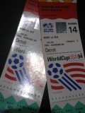 Romania - Elvetia (bilet de meci) WorldCup, 22 iunie 1994, SUA, Detriot
