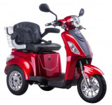 Tricicleta electrica, tip scuter, pentru agrementsau dizabilitati ZT-15-B TRILUX ROSU