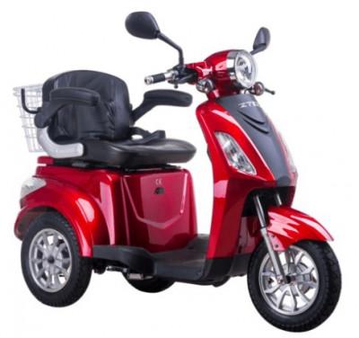 Tricicleta electrica, tip scuter, pentru agrementsau dizabilitati ZT-15-B TRILUX ROSU foto