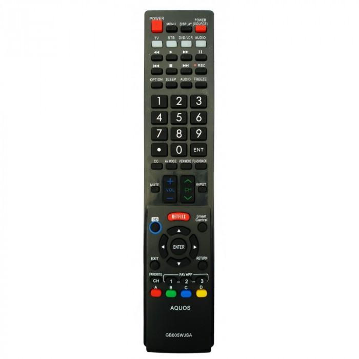 Telecomanda LCD LED SHARP AQUOS cu Netflix GB005WJSA GA890WJSA GA936WJSA etc.