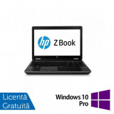 Laptop Hp Zbook 14, Intel Core i7-4600U 2.10GHz, 8GB DDR3, 240GB SSD, 14 inch + Windows 10 Pro