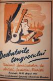 DESBATERILE CONGRESULUI UNIUNII SINDICATELOR DE ARTISTI , SCRIITORI , ZIARISTI BUCURESTI , 29 - 30 AUGUST 1945 - UNIUNEA SCRIITORILOR