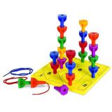 Surubele vesele Learning Resources, 30 suruburi in culorile curcubeului, tablita