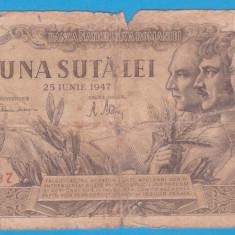 (1) BANCNOTA ROMANIA - 100 LEI 1947 (25 IUNIE 1947)