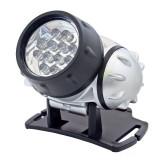 Lanterna de cap, 12 led-uri alb rece, 4 moduri iluminare, unghi reglabil