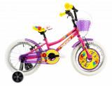 Bicicleta copii Dhs 1604 roz 16 inch