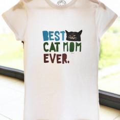 Tricou pictat manual BEST CAT MOM
