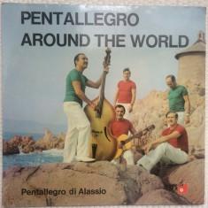 pentallegro di alassio around the world disc vinyl lp muzica pop world basf 1970