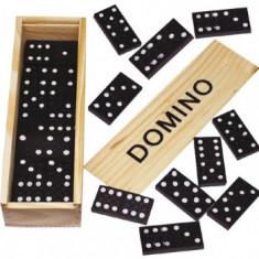 Domino in cutie de lemn 16x15 cm cu instructiuni