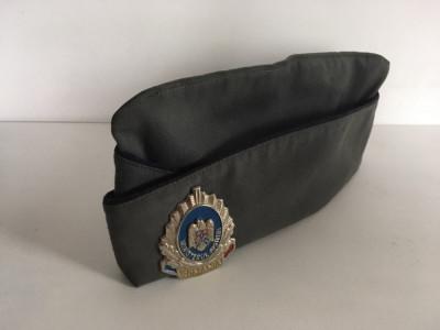 Sapca basca chipiu cascheta militara vintage cu emblema Ministerul Justitiei foto