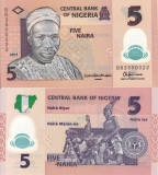NIGERIA 5 naira 2014 polymer UNC!!!