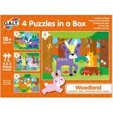 Cumpara ieftin Set 4 puzzle-uri, Animalute din padure, 2, 3, 4, 5 piese, Galt