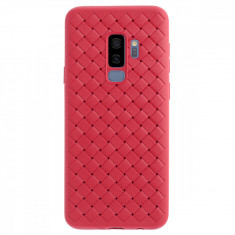 Husa silicon Samsung Galaxy S9 Plus Baseus Weaving Rosie