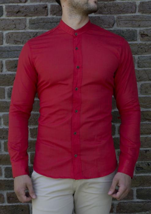 Camasa rosie - camasa slim fit camasa barbat camasa tunica cod 200