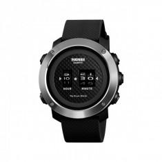 Ceas barbatesc sport SKMEI 1486 Drum Watch waterproof 5ATM cu bratasa din silicon, negru