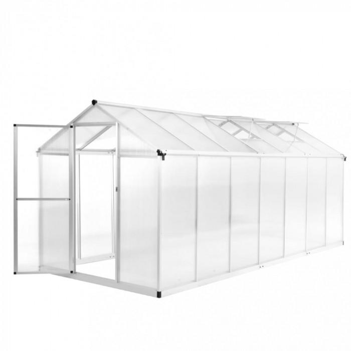 Seră, 421 x 190 x 195 cm, aluminiu, 15,6 m³