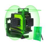 Nivela laser verde Huepar GF360G 3D cu trei planuri şi aliniere 30 m