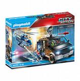 Playmobil City Action - Police, Elicopter de politie in urmarirea dubei
