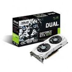 Placa video ASUS GeForce® GTX 1070 DUAL OC, 8GB GDDR5, 256-bit, garantie, PCI Express, 8 GB, nVidia