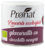 Zmeura glazurata cu ciocolata neagra bio, 100 g