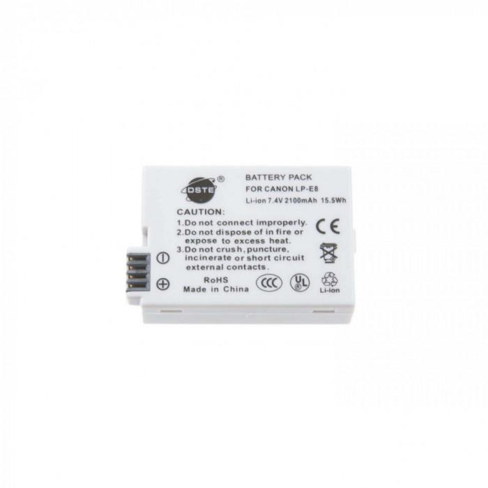 Acumulator DSTE 2100mAh compatibil Canon LP-E8 pentru 550D 600D 650D 700D