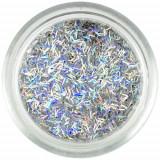 Confetti argintii - fâşii, hologramă