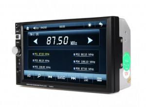 MP5 FM Player auto 7026TM cu functie bluetooth, handsfree, compatibil cu Android, display touchscreen