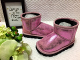 Cizme metalice roz imblanite de iarna fete copii piele eco 24 25 26