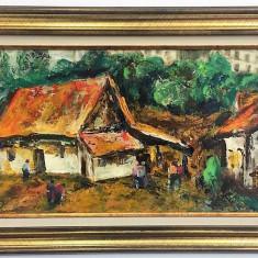 Vergiliu Cojocaru Cover - ulei pe carton , 33 x 60 cm