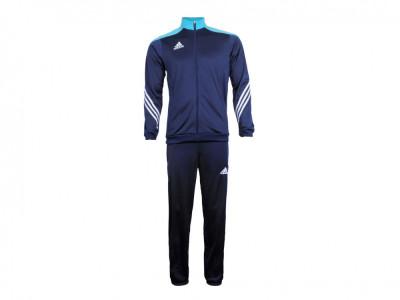 Trening barbati Adidas Sere14 Pes suit darkblue-supercyan-white F49713 foto